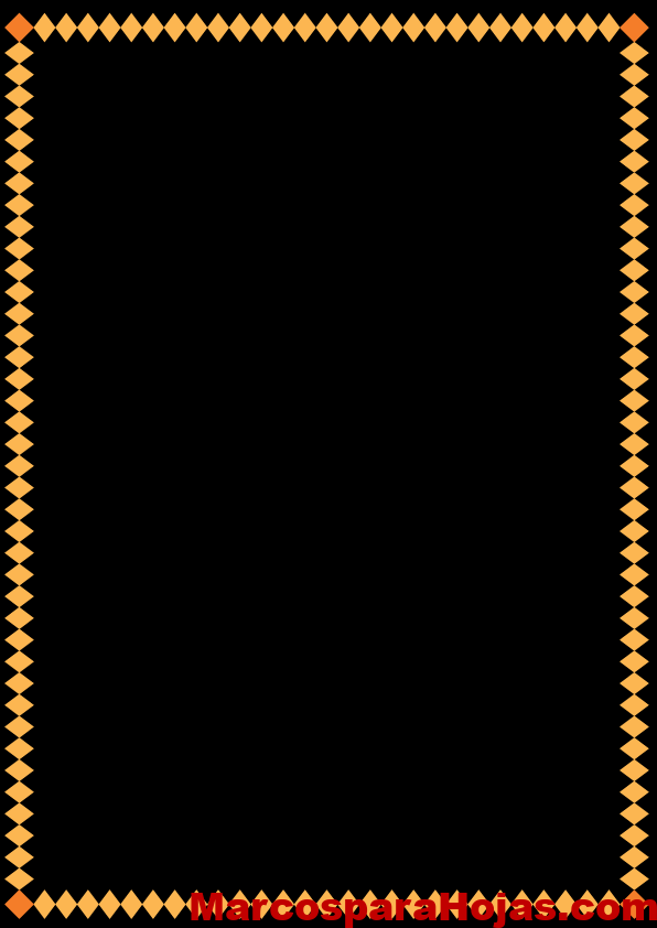 Borde Para Hojas Decorativo Amarillo Marcos Para Hojas